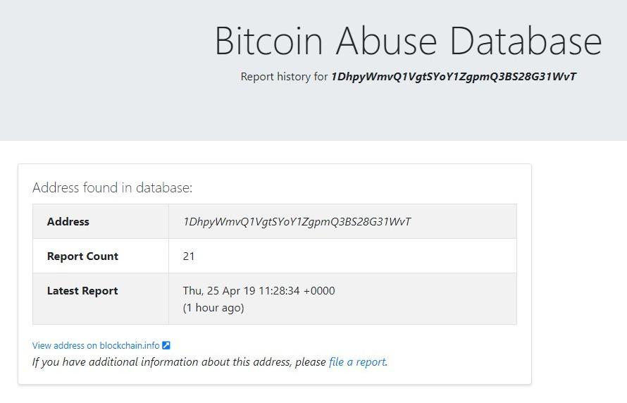 Bitcoin Abuse 6