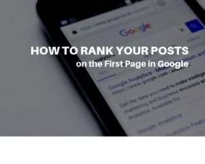 HOW TO RANK YOUR POSTS